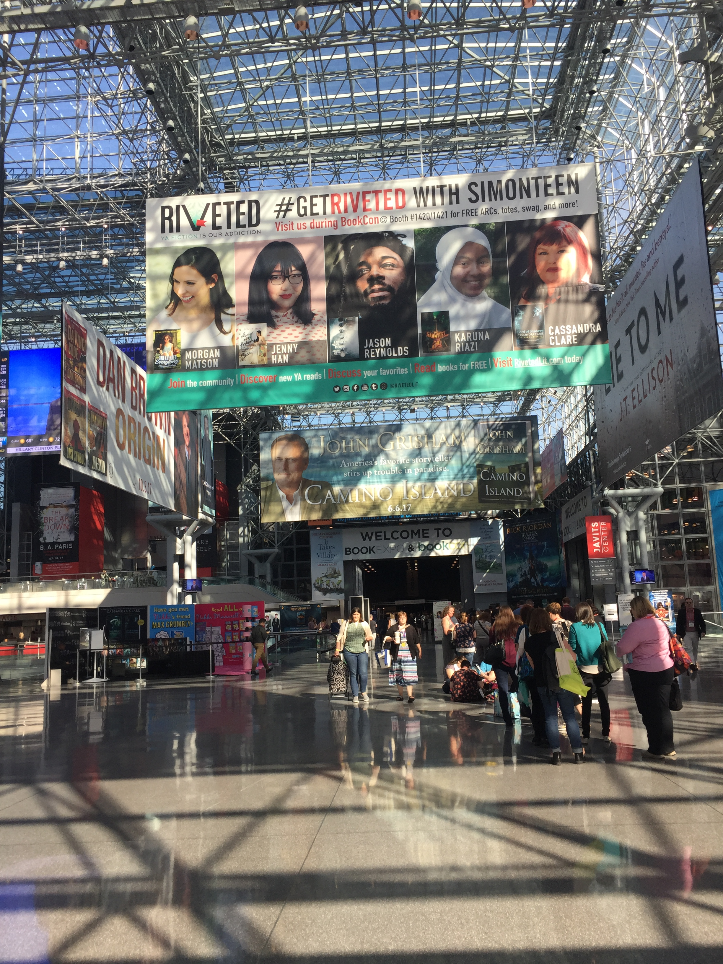 Walking Through The Glass Doors Of The Javitz Center, I Noticed The Huge  Signs Of Publishers And Booksellers Such As Simon & Schuster, Ingram,